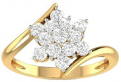 Diamond 3g Gold Finger Ring