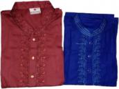 Normal Wash Cotton Fabric Panjabi BS-1