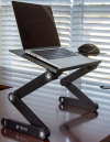 Aluminum Foldable Laptop Table with Mouse Tray