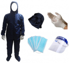 PPE with Face Mask / Shoe Cover / Hand Gloves