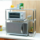 Stainless Steel Double Layer Microwave Oven Stand