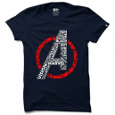 Half Sleeve Avengers Navy Blue Cotton T-Shirt for Men