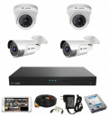 CCTV Package 4 Channel NVR 4-Pcs Camera 500GB HDD