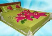 Jaba Flower Printed Cotton Bedsheet