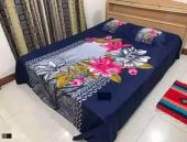 100% Cotton Bed Sheet Blue Color