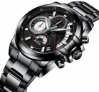 Multifunctional Black Wrist Watch