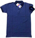 Dot Print Mens Polo T-Shirt