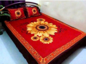 Red color Bed Sheet Set with Two Pillow Cover
