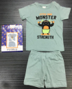 Pusblu Monster Strength Baby T-Shirt with Pant