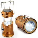 Rechargeable Lantern 6 LED Solar Power Light with Power Bank