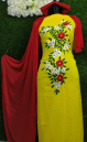 Unstitched Georgette Yellow Color Three Piece