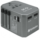 Verbatim 4-Port QC / PD Universal Travel Adapter