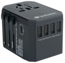 Verbatim 5-Port International Travel Adapter