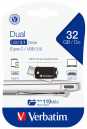 Verbatim 32GB Dual 3.1 Type-C OTG Pen Drive