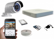 CCTV Package 2MP Full HD Hikvision Camera with Mouse