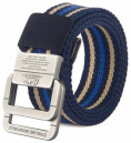Honmeng Luxury Canvas Double Ring Belt