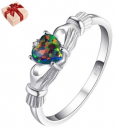 Heart Shaped Colorful Finger Ring Female