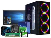 """Desktop PC Core i3 10th Gen 4GB RAM 19"""" Dell Monitor"""