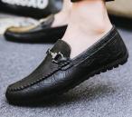 Stylish China Black Leather Loafer for Men
