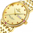 Carnival Red Diamond Automatic Mechanical Gold Watch