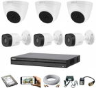 CCTV Package Dahua 6-Pcs Camera with 500GB HDD
