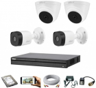 CCTV Package Dahua 4-Pcs Camera with 500GB HDD