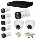 CCTV Package 8-CH Dahua DVR 9-Pcs Camera with 500GB HDD