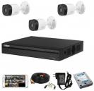 CCTV Package Dahua 4CH XVR 3Pcs Camera 500GB HDD