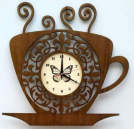Wooden Wall Cup Clock