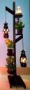 Corner Stand Hurricane Lamp