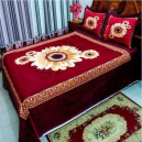 Flower Printed Cotton Bed Sheet with 2 Pillow Covers