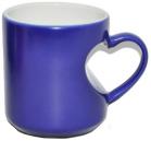 Heart Shape Love Magic Heat Press Ceramic Mug