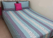 Bangla Cotton Fabric Bed Sheet with 2 Pillow Cover