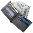 CarrKen Short Retro Ultra Thin Wallet for Men