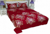 Double Size Bed Sheet with Matching Two Pillow Cover