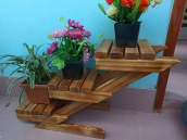 Stairs Tree Plant Stand
