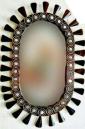 28 / 18 Inch Wooden Mirror