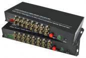 16 Channel Digital Video Optical Fiber Media Converter