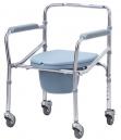 Kaiyang KY696 Chromed Steel Commode Wheelchair