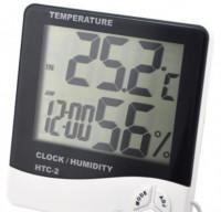 HTC-2 Digital Temperature Humidity Meter with Clock