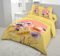 Yellow Color Double Size Cotton Bed Sheet