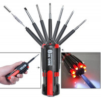 8-in-1 Multi Screwdriver with Powerful Torch