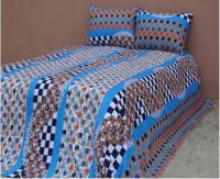 Light Blue Cotton King Size Bed Sheet