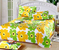 Green Double Size Cotton Bed Sheet