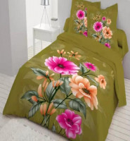 Cotton Bed Sheet with Matching Pillow Cover