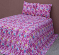 Cotton Bed Sheet with Matching 2 Cushion Cover