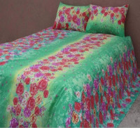 Floral King Size Bed Sheet