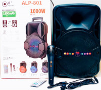 ALP-801 Portable Bluetooth Speaker with LED