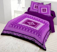 Cotton Bed Sheet for Double Bed with Pillow Cover