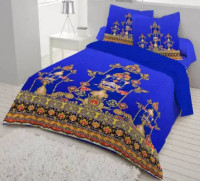 Cotton King Size Multicolor Bed Cover